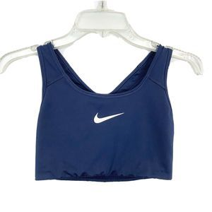 NIKE Navy Blue Racerback Athletic Top Sports Bra M